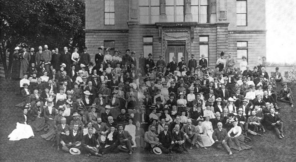 ALA members attending the Annual Conference in Montreal made a side trip to McGill University, where they posed for this photo on June 9, 1900.