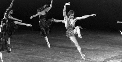 Mikhail Baryshnikov, pictured here in a 1979 production of The Four Seasons, was among the honorees at the 50th-anniversary gala of the New York Public Library for the Performing Arts