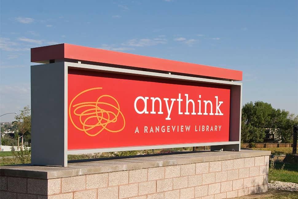 Anythink sign