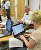 June 2011 editathon at the British Library.