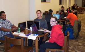 More than 100 students (20% of the student body) attended the Long Night Against Procrastination hosted by Waldorf College's Hanson Library and the Waldorf Writing Center.
