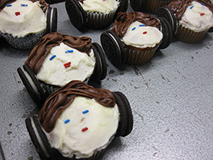 May the frosting be with you. Princess Leia cupcakes help lure students in for Game Night at the University of Minnesota Morris's Rodney A. Briggs Library.