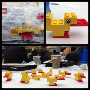 "Keynote speaker Bo Stjerne Thomsen, director of research and learning at the Lego Foundation, challenged audience members to take six Lego blocks and create a duck within one minute. ""Play has a purpose,"" Thomsen said. ""It is a serious solution for learning."""