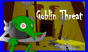 A screenshot of Mary Broussard's Goblin Threat game