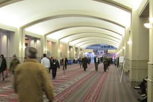 Heading down the Pennsylvania Convention Center hall of the 200s