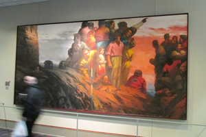 A painting in the hall of the 100s