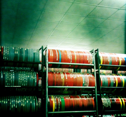 The Indiana University Library Film Archive stores its collection in a climate-controlled vault located less than two miles from the library.