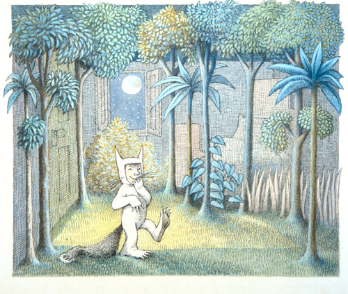 Sendak illustration from Where the Wild Things Are
