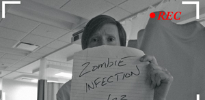Tish Hayes warns YouTube of the zombie infection at Moraine Valley Community College.