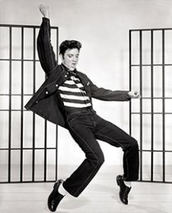 Elvis Presley in Jailhouse Rock.