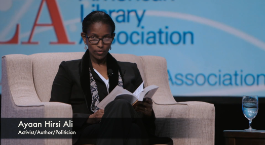"Ayaan Hirsi Ali reads from her forthcoming book ""Heretic"""