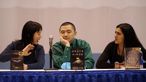 Fonda Lee, Ken Liu, and Sabaa Tahir