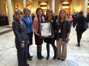Georgia library groups present prints to legislators