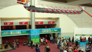 Dragon boat above ACRL 2015 registration area
