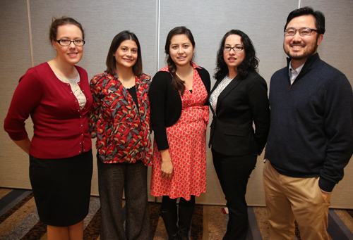Team E: From left: Amanda Ingalls, Melissa Ringle, Kimberly Trinh-Sy, Carmen Sanchez, Erwin Camia