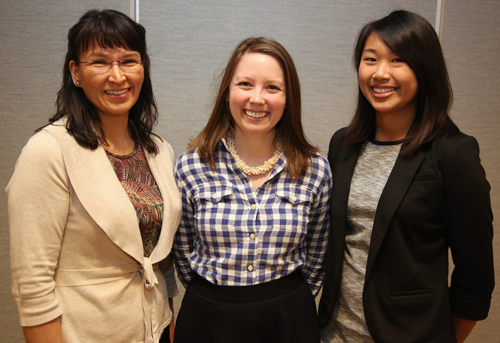 Team F. From left: Valarie Kingsland, Rebecka Embry, Tiffany Chow