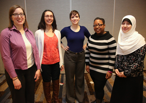 Team J. From left: Amy Wisehart, Anna Coats, Karen Pietsch, Kaya Burgin, Sara Ahmed