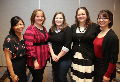 Team K. From left: Angela Kent, Beth Boatright, Rebecca Marrall, Crystal Boyce, Sarah Espinosa