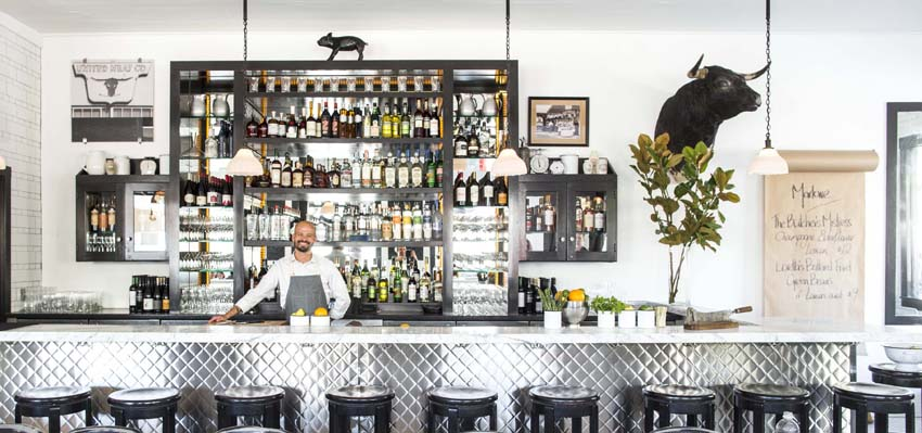 The bar at Marlowe. Photo: Eric Wolfinger