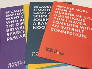 Postcards for Libraries Transform campaign