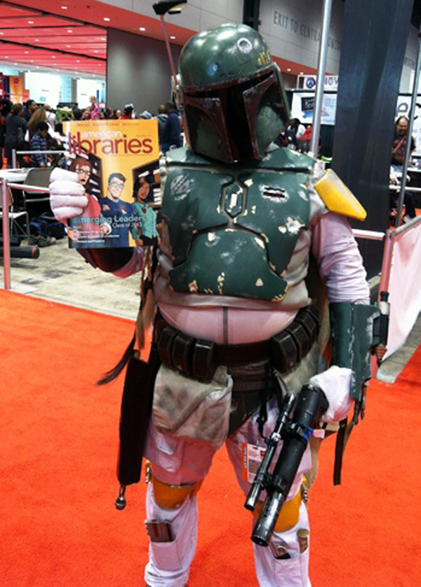 Mandalorian bounty hunter Boba Fett at C2E2 in Chicago.
