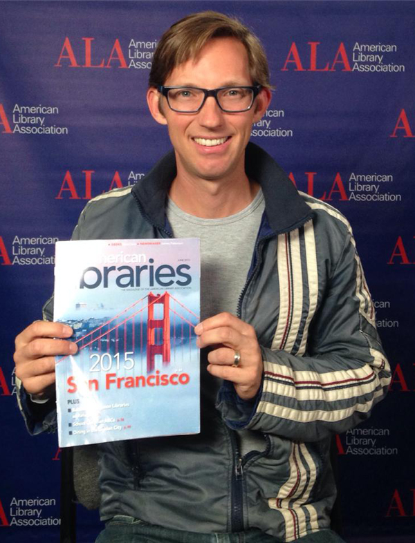 Joshua Davis, Wired contributing editor, Epic Magazine founder, and author of the book Spare Parts, at the 2015 ALA Annual Conference and Exhibition.