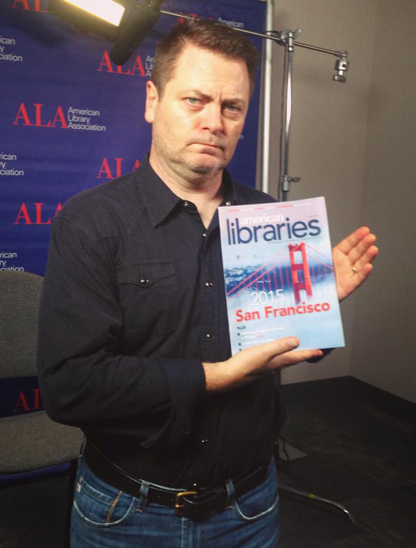 Author and Parks & Recreation star Nick Offerman at #alaac15