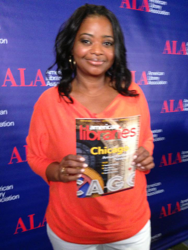Octavia Spencer, actor and author of Randi Rhodes, Ninja Detective: The Case of the Time-Capsule Bandit, at #alaac13 in Chicago.