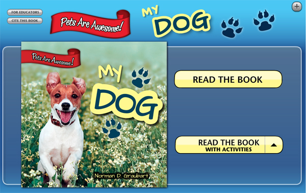 Image from My Dog, an interactive ebook from Rosen Publishing.