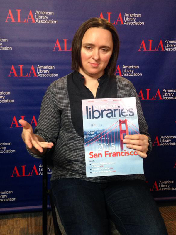 Essayist, historian, radio contributor, and cartoon voice artist Sarah Vowell at #alaac15
