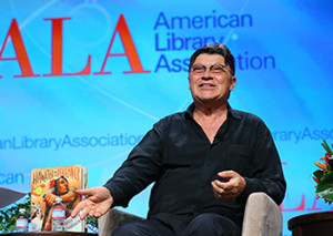 Rock and Roll Hall of Famer Robbie Robertson discusses his new book Hiawatha and the Peacemaker (illustrated by Caldecott Honor-winner David Shannon) at the Closing General Session.