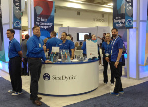 SirsiDynix booth at ALA 2015 Annual Conference and Exhibition