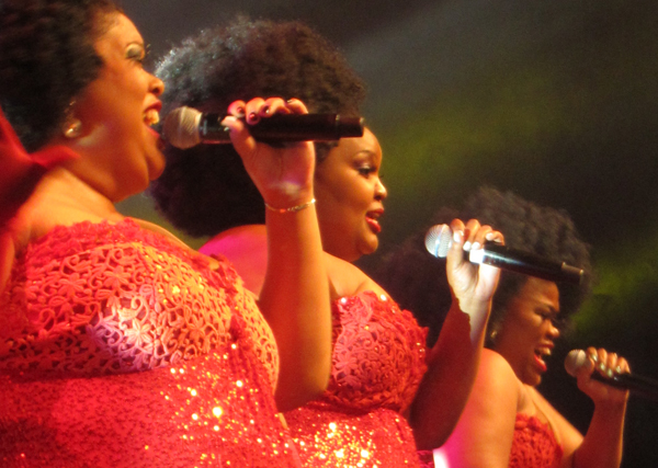 Cape Town singing group 3 Tons of Fun perform at IFLA's World Library and Information Congress, August 18, 2015.