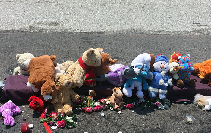 A memorial to Michael Brown in Ferguson, Missouri.