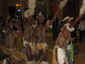 Traditional drummers and dancers