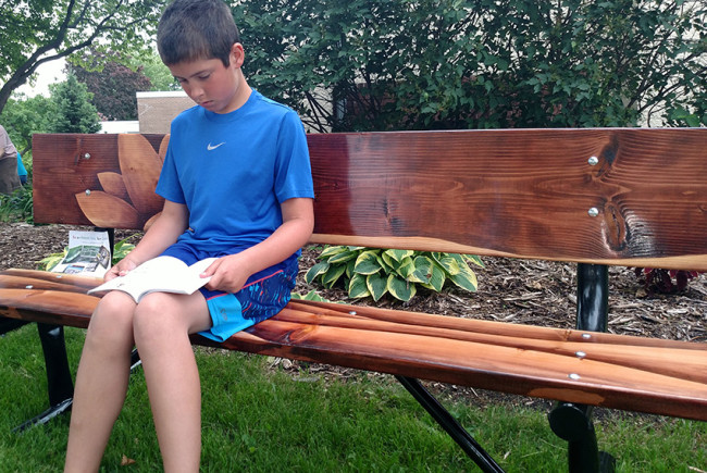 Columbus (Wis.) Public Library created a pilot art bench project in which local artists were asked to paint seven benches that were later distributed throughout town. The project received funding from the Libraries Transforming Communities initiative.