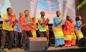 The Mzansi Youth Choir of Soweto performs at the opening session of the 81st International Federation of Library Associations and Institutions' World Library and Information Congress in Cape Town, South Africa, August 16, 2015.