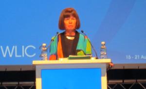 Incoming IFLA President Donna Scheeder, president of Library Strategies International in Washington, D.C.
