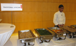A buffet of traditional South African food