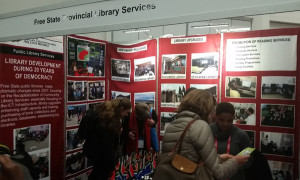 The Free State Provincial Library Services booth at the World Library and Information Congress in Cape Town