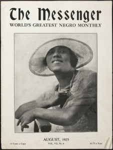 Front cover of 'The Messenger: World's Greatest Negro Monthly' Vol. VII, No. 8. August 1925 featuring Miss Louise B Yeargan, teacher, Philadelphia, Pa.