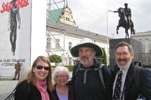 Richard E. Sapon-White (far right) and friends in Łódz, Poland. Photo: Richard E. Sapon-White