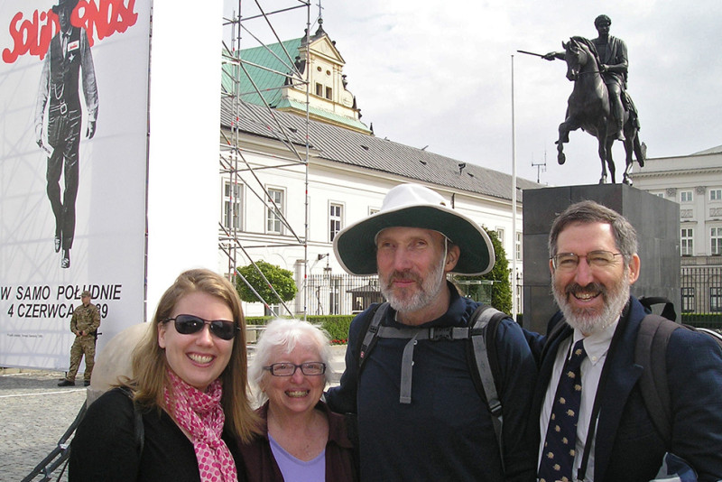 Richard E. Sapon-White (far right) and friends in Łódz, Poland. Photo: Richard E. Sapon-White