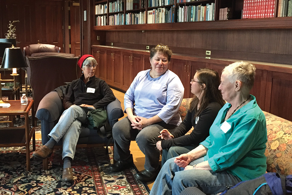 A death cafe meets in the Ann Stevens Room in the Anchorage (Alaska) Public Library. Photo: Kris Green