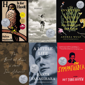 Finalists for the 2016 Andrew Carnegie Medals for Excellence in Fiction and Nonfiction