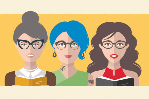 The many faces of the librarian stereotype. Illustration: Rebecca Lomax and Vlada Young/Shutterstock