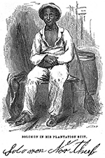 Solomon Northup (1808-1863?), engraving from his autobiography, 12 Years a Slave (1853).