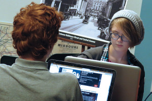Kansas City (Mo.) Public Schools students work on the computers at Kansas City Public Library. (Photo: Kansas City (Mo.) Public Library)