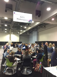 Makerspace in Exhibit Hall at AASL 2015