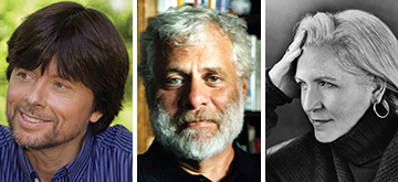 "From left to right: Ken Burns, Mark Kurlanksy, and Terry Tempest Williams. <span class=""credit"">Photos: Sylvia Plachy (Kurlansky); Marion Ettlinger (Williams)</span>"